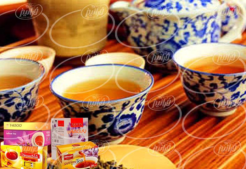 خرید چای کیسه ای زعفران درجه یک