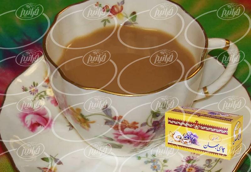 صادرات چای جهان زعفران ۲۰ عددی تی بگ