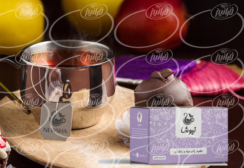 عامل فروش اصلی دمنوش چای زعفران نیوشا