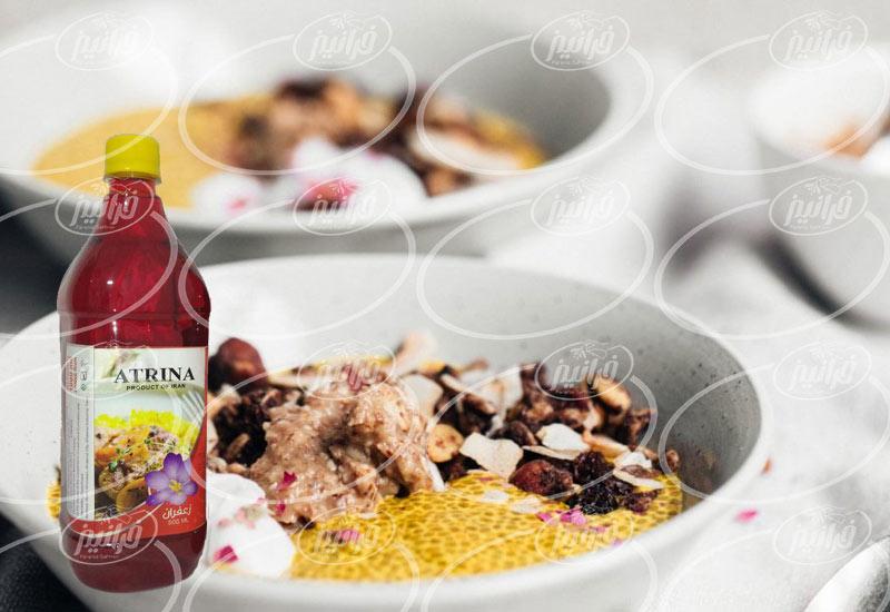 تخفیف مایع زعفران آترینا خوش طعم رستورانی